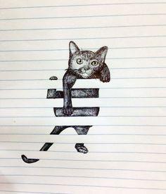 Cat Battling Window Blinds