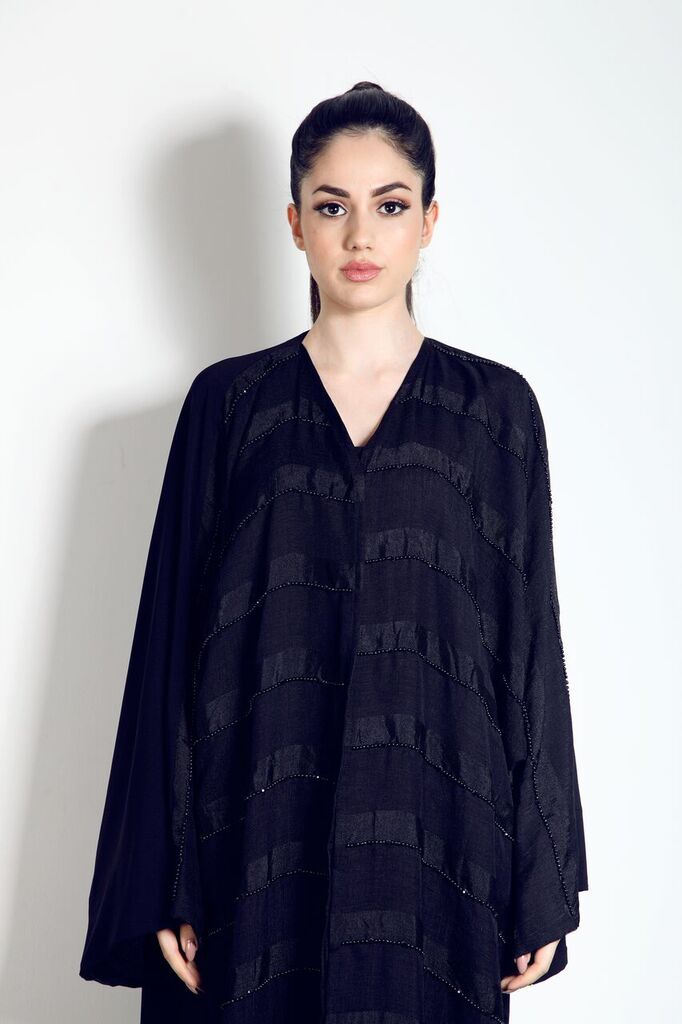 To get this beautiful Abaya with rows of beaded embellishment, for only £109 visit our website.