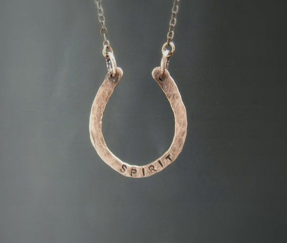 Personalized horseshoe necklace custom hand by VeraNasfaJewelry