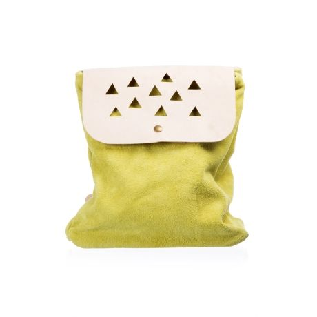 Large Suede Triangle Backpack – Lime & Nude from Peace, Love & Tie-Dye - R699 (Save 18%)