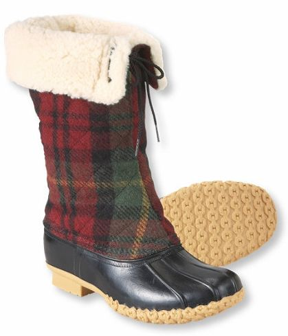 Mad for Plaid, Shearling and rubber! Yah, if I lived in Maine or Seattle. ;)