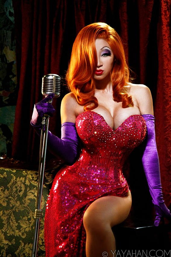 quite possibly the coolest Jessica Rabbit costume ever!