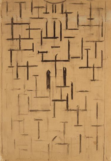 Piet Mondrian, 'Church Façade 5' (1914)