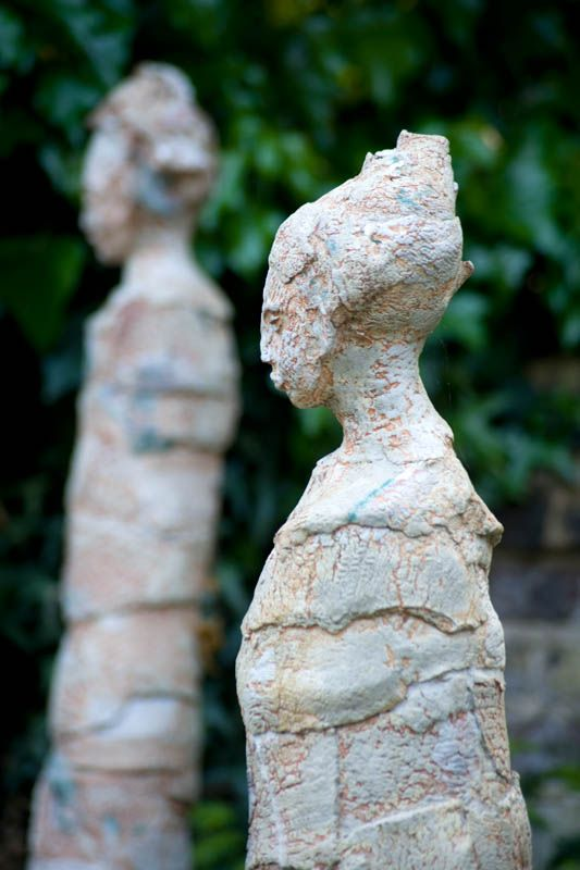 Sculputure can create mood #gardenart #design #london #garden #sculpture #earthdesigns