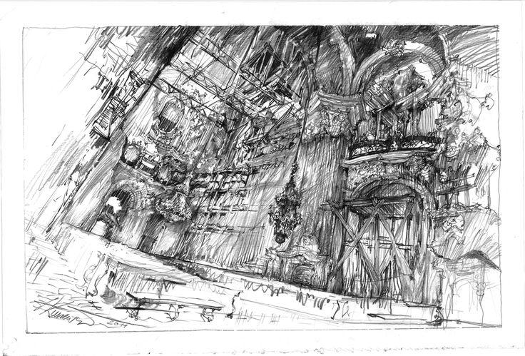 filip kurzewski; pencil on paper; 50x70cm 19,5x39inch