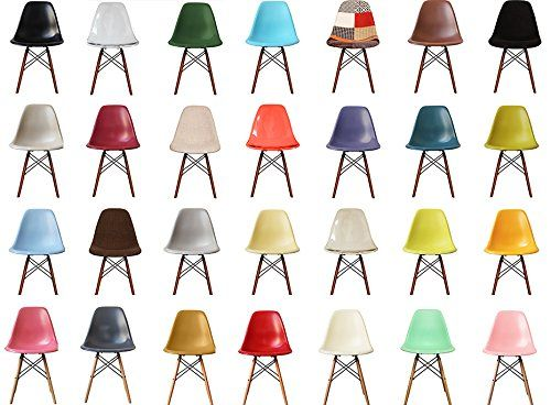 Plastic Dining Chair with Wooden Legs Eiffel inspired Retro Scandinavian Style---39.95---