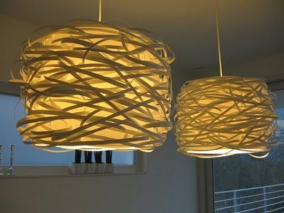 #Ikea #Hack  @Michelle Boudreau: Modern Dining Rooms, Lamps Shades, Lampshades, Birds Nests, Lights Shades, Diy Lights, Ikea Hacks, Ikea Hackers, Modern Lights