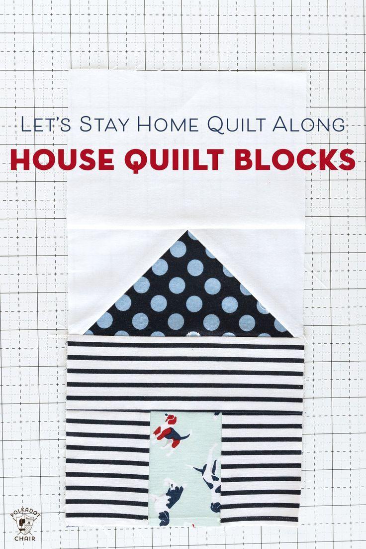 Paper Pieced House Quilt Blocks Quilt Along Week 2 Polka Dot Chair House Quilt Block House Quilts House Quilt Patterns