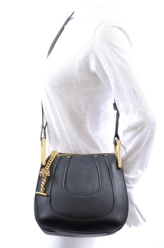 c6e8ac72a4 Chloe Hayley Small black leather knotted strap shoulder handbag purse $1890