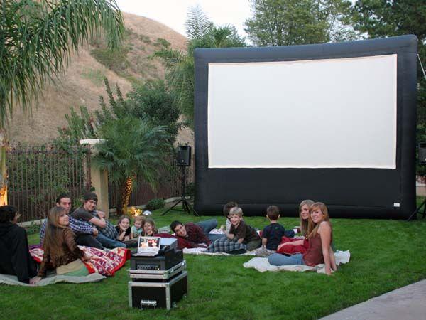 Backyard Movie Theatre diy backyard theater | ideas for outdoor movie screen | outdoortheme