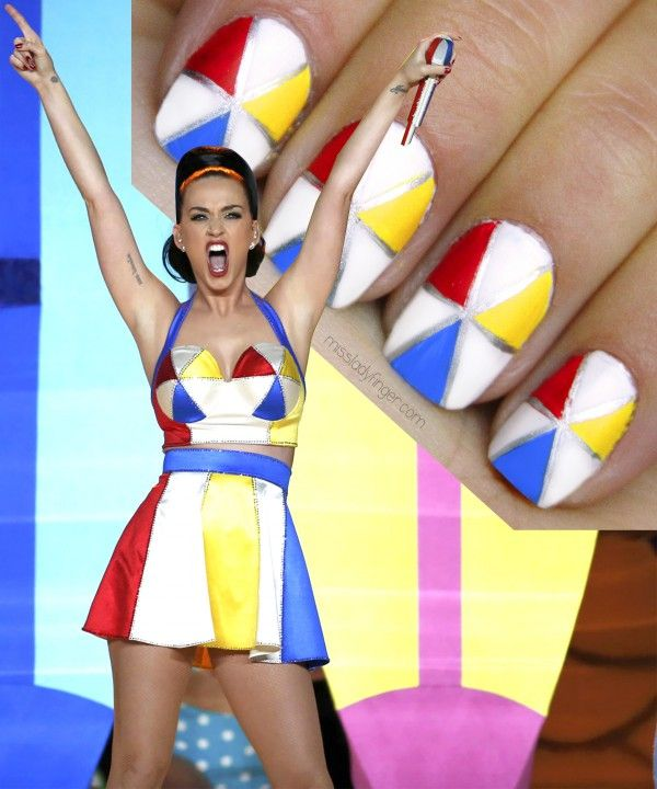 Want to know how to get this nail look worn by Katy Perry during her Super Bowl performance? Read this article because we've got all the basic steps for you!