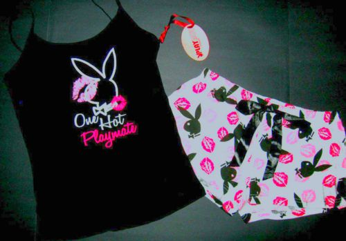 ♥ pink and black playboy bunny