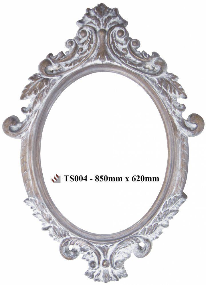 Classic Detailed White & Wood Mirror | Vintage Vista width 990 x height 1290 R3600