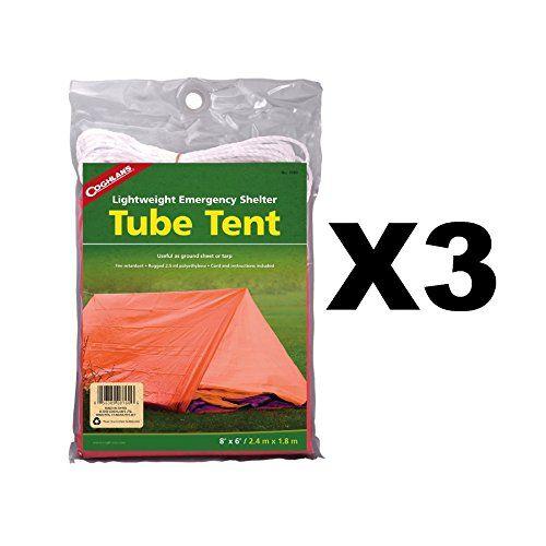 Coghlan's Tube Tent Emergency Lightweight Polyethylene Camping Shelter (3-Pack)