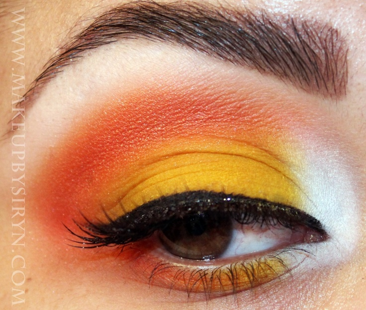 Candy Corn eyeshadow for Halloween how to