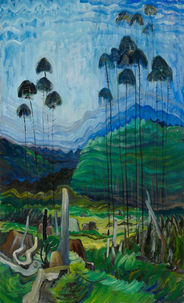 Emily Carr (Canadian, 1871 - 1945): Stumps and Sky (via Art Gallery of Ontario)
