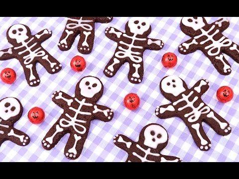 Galletas de Chocolate con Esqueletos | Postres fáciles para Halloween - YouTube