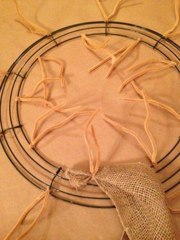 Created in His Image: DIY - 10 Step Chevron Burlap Wreath