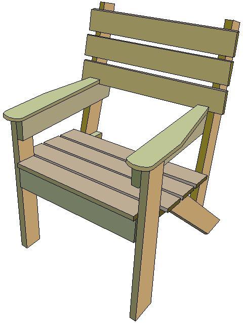 wooden simple garden chair