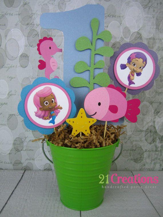 The 25 best bubble guppies centerpieces ideas on pinterest bubble guppies bubble guppies - Bubble guppies center pieces ...