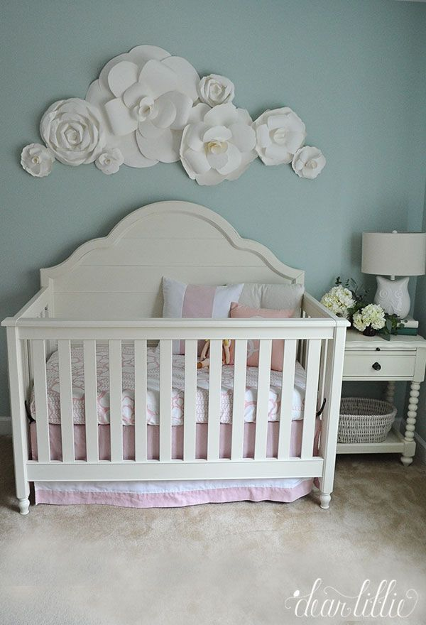 Dear Lillie: A Soft and Sweet Nursery with Paper Flowers