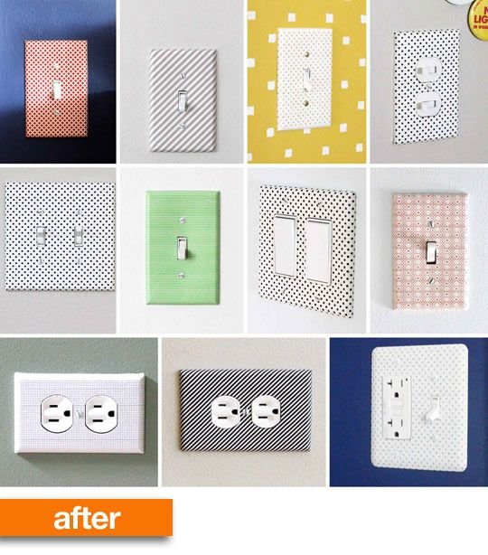 Before After Washi Switch Plates Washi Tape Crafts Home