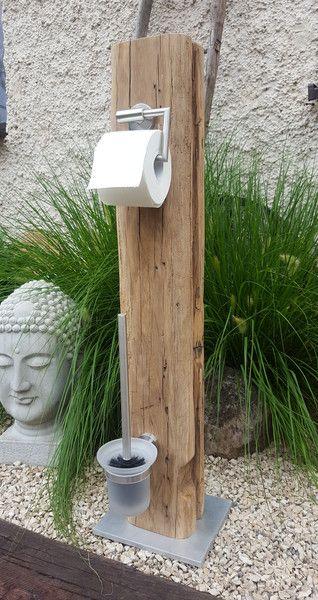 Klopapierhalter - Toilettenpapierhalter WC-Garnitur Bürste & Co. - ein Designerstück von by-Andalura bei DaWanda