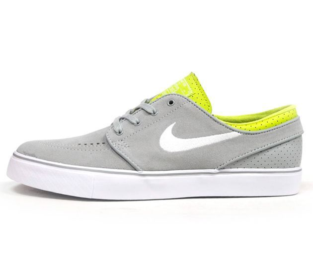 Nike SB Stefan Janoski Low-Grey-Yellow-White #White #Womens #