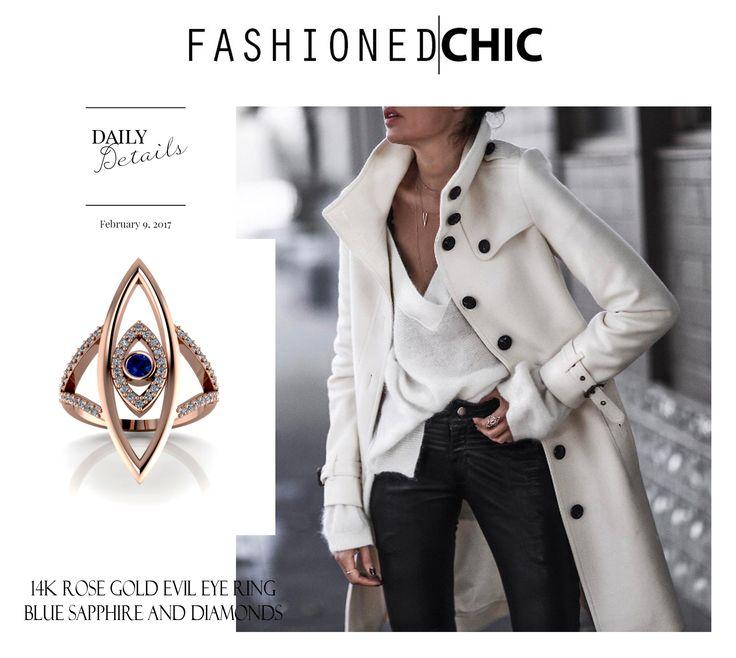 14K Rose Gold Evil Eye Ring with Diamonds Today on Fashioned Chic #fashionedchic #antoanetta #rosegoldeveileye #evileyering