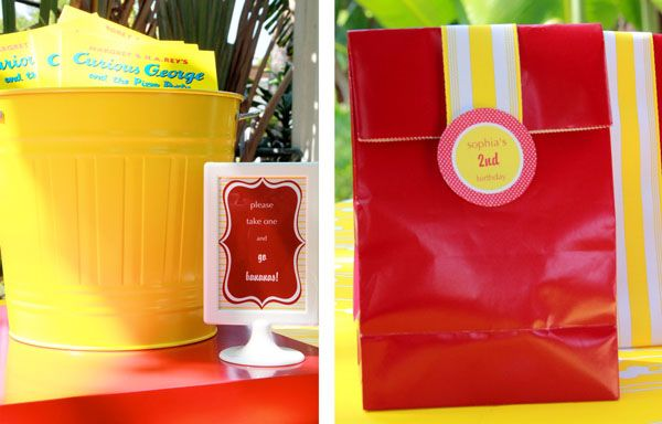 love this idea of Curious George books for each kid to take home!