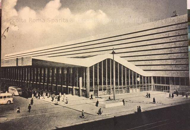Foto storiche di Roma - Stazione Termini Anno: 1958 timbro postale