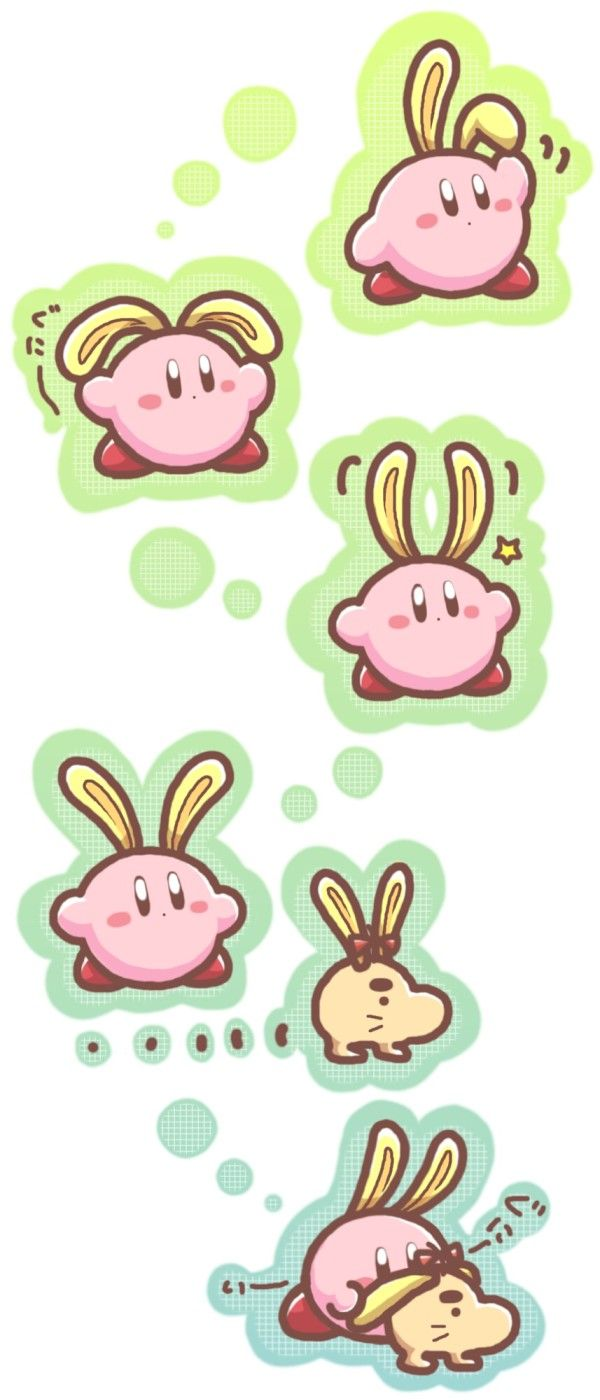 Kirby and Mr Saturn (Earthbound)