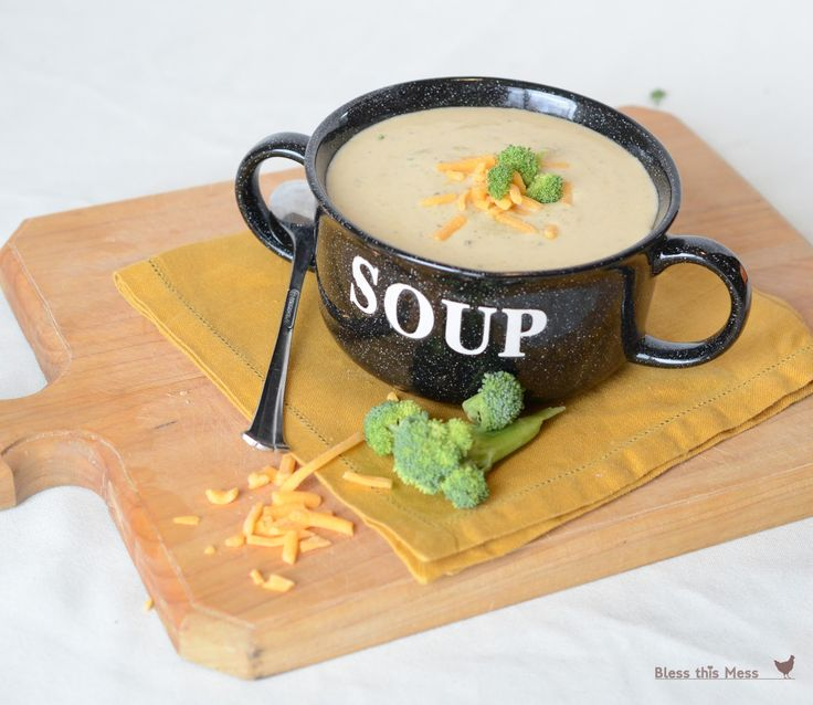 Bless This Mess: Cheesy Broccoli Soup in the Crockpot
