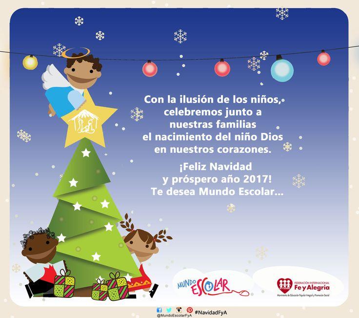 #MundoEscolar te desea una Feliz Navidad y te invita a compartir tu mensaje navideño virtual con docentes y estudiantes de diferentes países. ¡Participa! http://www.mundoescolar.org/el-portal/mensaje-navideno-2016-de-mundo-escolar-deja-tu-mensaje #NavidadFyA #Mensaje #Navidad