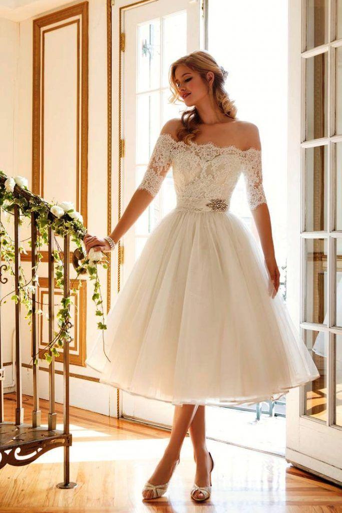 Kurze Vintage Brautkleid Hochzeit