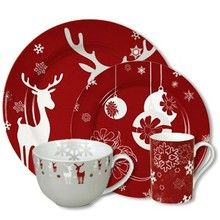 Waechtersbach Holiday Winter Splendor Dinnerware -- the cafe au lait cup is…