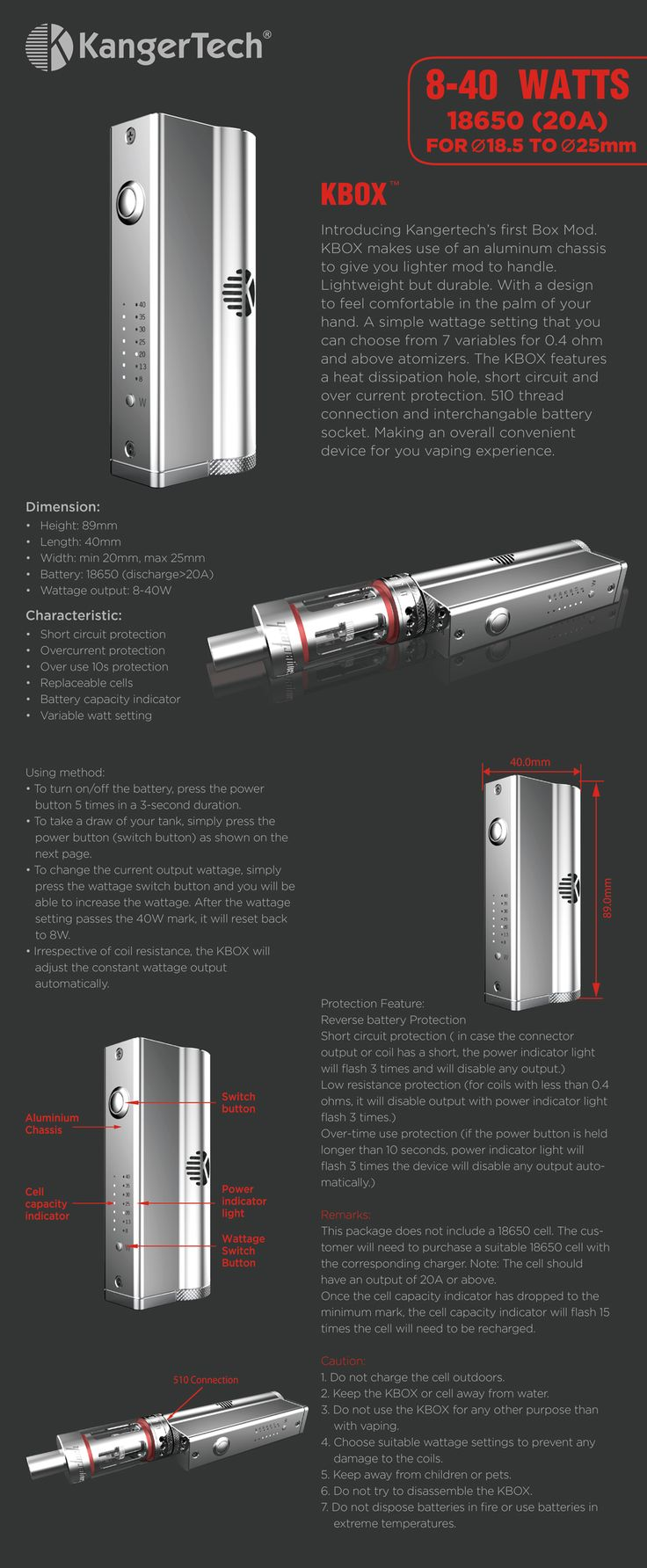 small resolution of kanger k box mod 40 watts this a great new mod