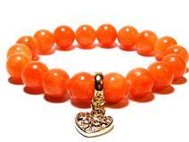 Przepiękna bransoletka w kolorach pomarańczu