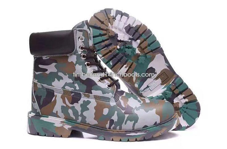 Shipped Free Timberland Men's Basketball Camo Boots-Green $120