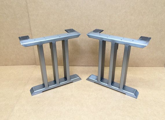 Design Bench Legs Three Bars Industrial Bench Legs Sturdy