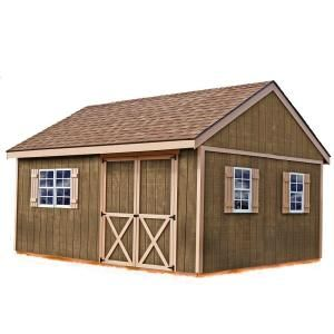 Best Barns New Castle 16 ft. x 12 ft. Wood Storage Shed Kit-newcastle_1612 at The Home Depot $2,495.00
