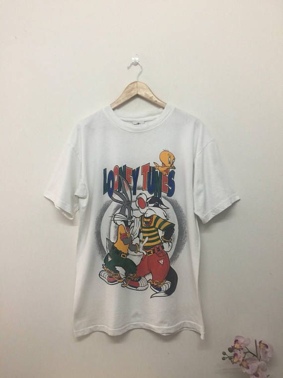 LOONEY TUNES T-SHIRT/Vintage Distressed Looney Tunes X Guess