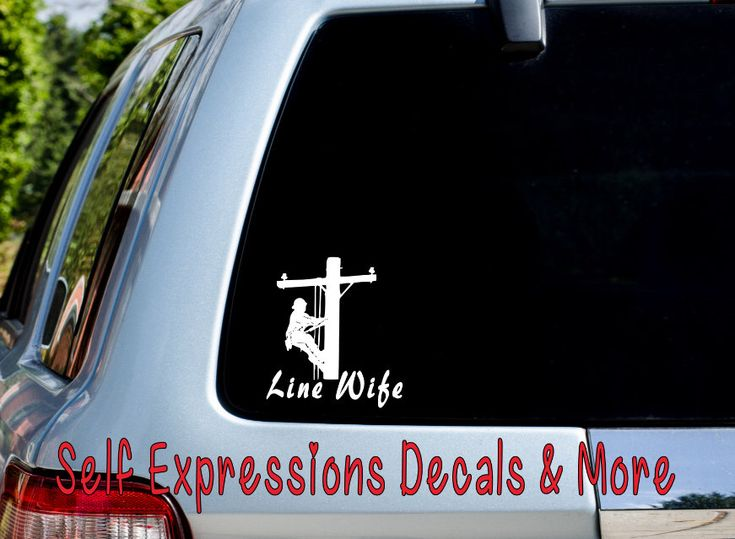 Lineman line wife car truck window decal
