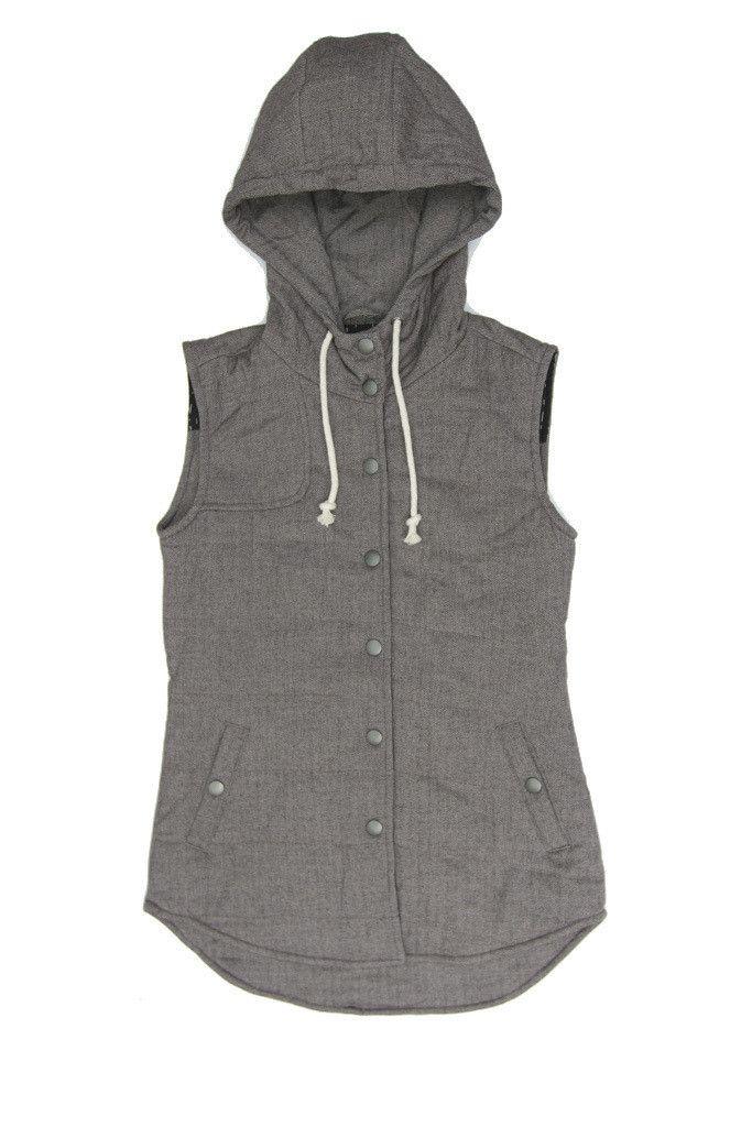 Kinney Herringbone Hooded Wool Vest