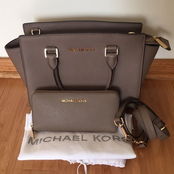 1 DAY SALE ON MERCARI Michael kors bundle My absolute favorite purse debating whether to sell or not, but if I can sell it for the right price then it's yours! This is a Michael kors dark dune Selma , size medium with matching wallet! ❗️Hard to find ❗️Comes with dustbag, price tag and care card for both! $280 on Ⓜ️ or ️️ MICHAEL Michael Kors Bags Satchels