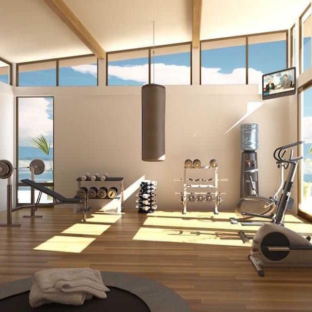 Stijlvolle tips om je eigen fitnessruimte thuis te creëren. Verschillende voorbeelden die je laten beginnen aan het inrichten van je eigen kamer.