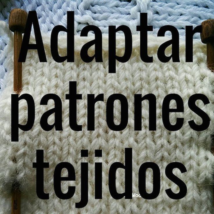 Cómo adaptar patrones para tejidos - Soy Woolly