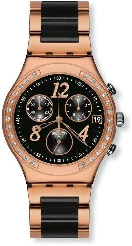 Swatch Dreamnight Rose Ladies Watch YCG404G Swatch. $189.93. Band Color: black/rose-gold. Brand:SWATCH. Model: YCG404G. Dial color: black. Condition:Brand new with Tags