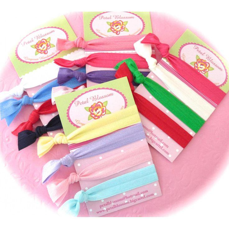 $6.00  for 2 sets of 4 Petal Blossom Soft ties by petalblossom on Handmade Australia