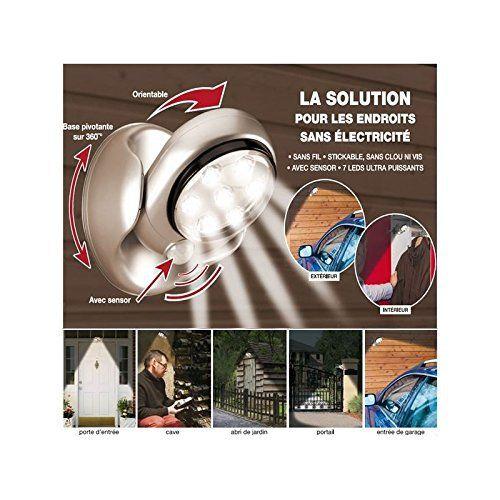 ProBache - Lampe 7 leds à détecteur de mouvement orientable 360 degrés: Cet article ProBache - Lampe 7 leds à détecteur de mouvement…